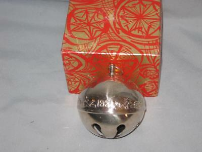 1980 Wallace Silversmiths Christmas Sleigh Bell Ornament W/box