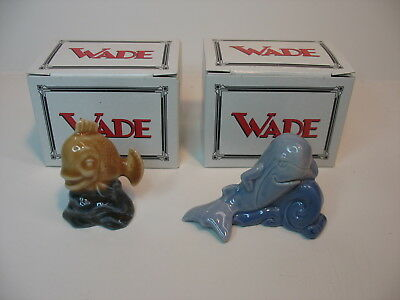 -1997 Wade waterlife Goldfish & Whale,  Mint w/ boxes, FREE POST