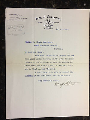Henry Roberts CT Governor 1905-07 letter May 29 1905