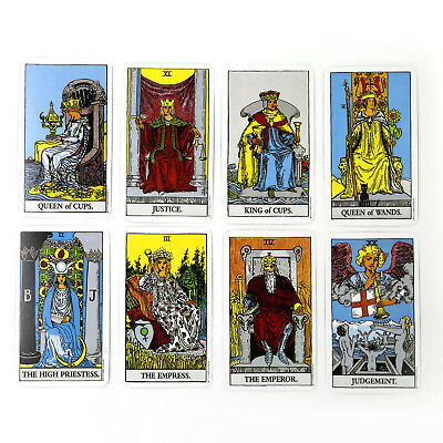 78pcs/Set Rider Waite Tarot Deck Cards English Full Version Well Printed Durable