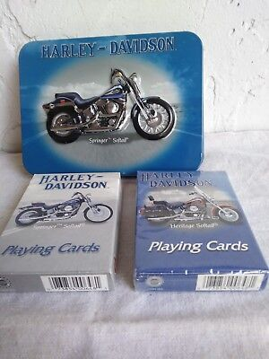 Harley Davidson Playing Cards & Metal Case/ Collectible & Ready to Use!!!