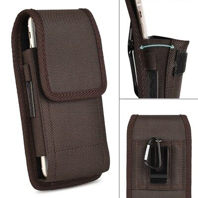 Vertical Leather Case Cover Pouch Holster w/ Belt Clip For iPhone 7 Plus 8 Plus