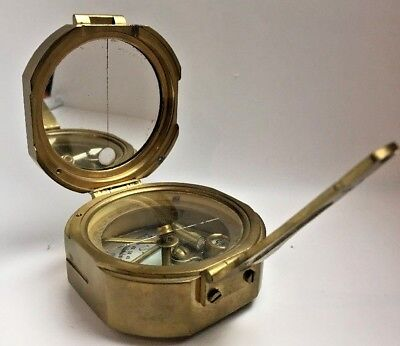 Stanley London Brass Surveying Compass Scientific Nautical Map Instrument 1914