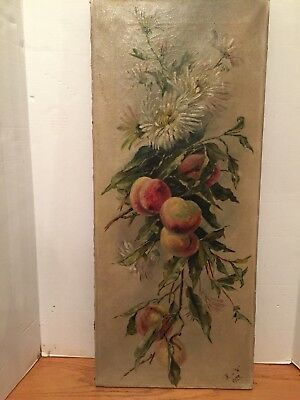 Original Early 20th. Cent. Oil Painting on Canvas Still Life /Signed H.v.W.