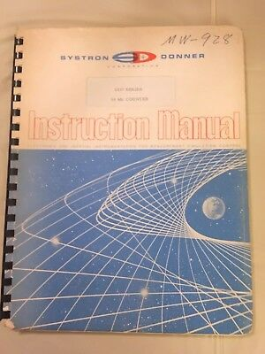 Vintage Manual Systron Donner Instruction  1037 Series 50 Mc Counter