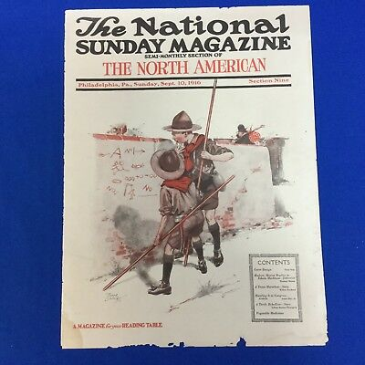 Boy Scout 1916 The National Sunday Magazine Boy Scout Cover