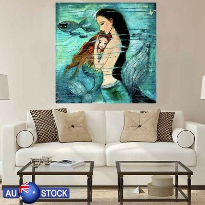 New Mermaid Canvas Wall Art Painting Pictures Home Hanging Picture Decor AU
