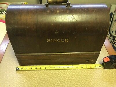 Vintage Singer Sewing Machine Bentwood Case Only Fits 3/4 Singer 128