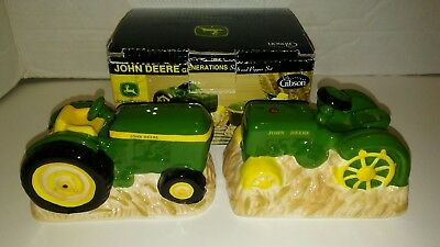 John Deere Tractor Pair of Salt and Pepper Shakers Gibson NEW IN BOX