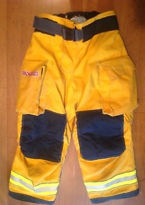 Globe GXtreme Firefighter's Turnout Pants. Yellow. 36X28. 6/2008. Used.