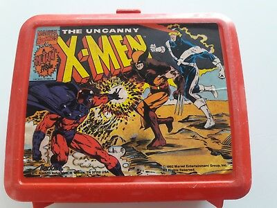 1992 the UNCANNY X-MEN Plastic Lunch Box and has Thermos