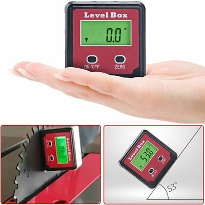 0-360° LCD Digital Level Box Inclinometer Protractor Bevel Gauge Angle Finder
