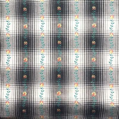 "CLEAN & AWESOME VINTAGE 1930s 100% COTTON SHADOW PLAID FABRIC -148""/ 4 1/8 YARDS"