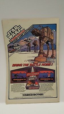 Star Wars The Empire Strikes Back Video Game cartridge Print Ad Parker Brothers