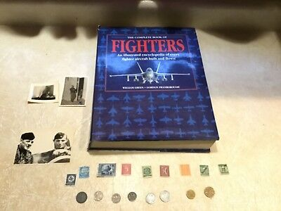 WW2 KGB SEIZED PHOTO 2 Soldier PIC Swastika 1941G Coin & Stamp WW2 Book Plane