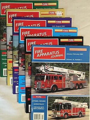2001 Vol 18 FIRE APPARATUS JOURNAL MAGAZINE complete 6 issues Fire Truck EMS