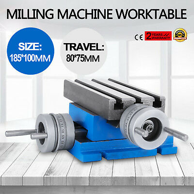 """Milling Machine Worktable Cross Slide Table 4""""X7.3"""" Vise Compound Drilling"""