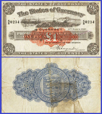 Guernsey 1 pound 1940 UNC - Reproduction