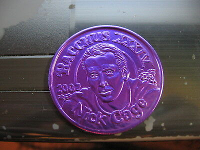 nick cage actor bacchus 2002 Mardi Gras Doubloon Coin rare purple vintage nola