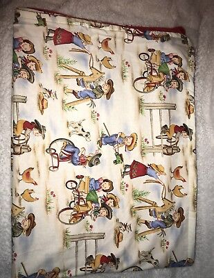 Handcrafted Vintage Themed Reversible Minky Cowboy Blanket
