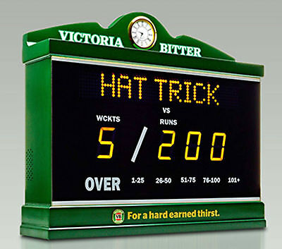 VB The Ashes Cricket Digital Scoreboard Victoria Bitter Limited Edition *Rare*