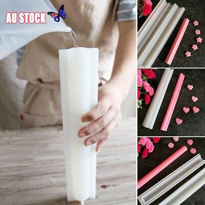 Heart Round Silicone Mold DIY Tube Column Candle Soap Mould Templet Hand Craft