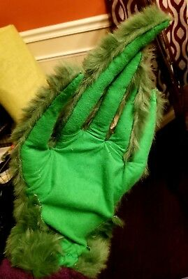 Custom Made Large Grinch Gloves