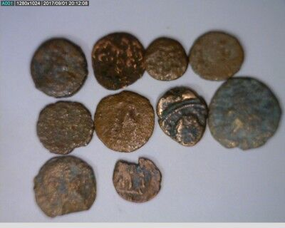 10 Ancient Coins Roman or Other ( Lot 4 )