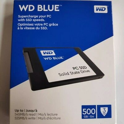 WD - Blue PC SSD 500GB Internal SATA Solid State Drive *NEW FREE SHIPPING