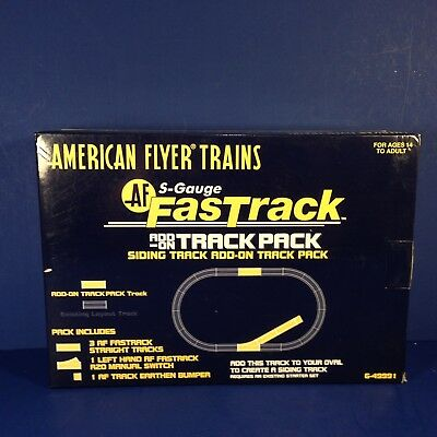 American Flyer Trains S-GAUGE ADD-ON TRACK PACK 6-49991 NEW! Combine Shipping!