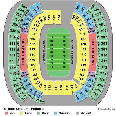 New York Jets vs New England Patriots 2 tickets 12/30/2018 Lower Level