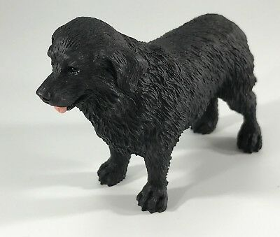 NEWFOUNDLAND Black Dog Figurine Replica Hand Painted DOG LOVER GIFT NEW w BOX