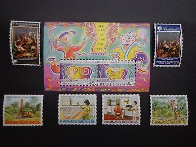 Australian. Christmas Islands 1995 Mini Stamp Sheet & Six Stamps  -:-  Nicem.u.h