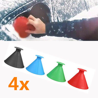 4x Magic Snow Shovel Cone Ice Scraper Car Winter Window Windshield Cleaning Tool