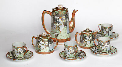 EGGSHELL PORCELAIN TEA SET 11 PC. SATSUMA / KUTANI Japan 20th C.