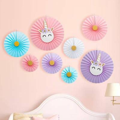 8x Paper Fan Flowers Wedding Birthday Party Tissue Paper Wall