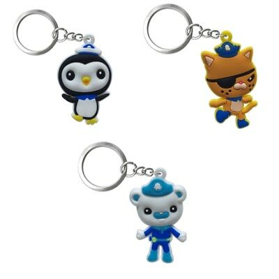 3PCS Octonauts Chain Key Ring Kids Toy Key chain Key Holder Charms Small Gift