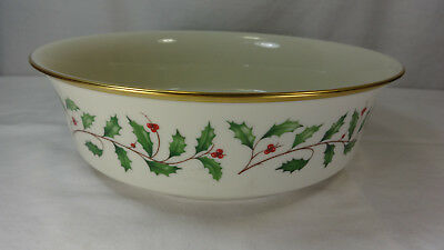 """Lenox USA China Dimension Collection Holiday Collection 9 1/8"""" diam Bowl"""