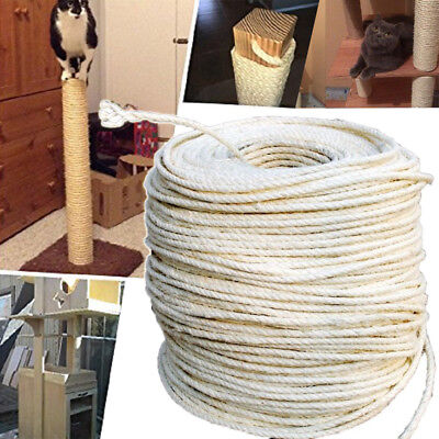 10M 8mm DIY Cat Scratching Post Pet Toy Natrual Cordage Twisted Sisal Ropes