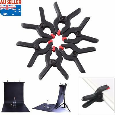 6x Pro Photography Background Studio Clips Holder Clamps Camera Backdrop Stand