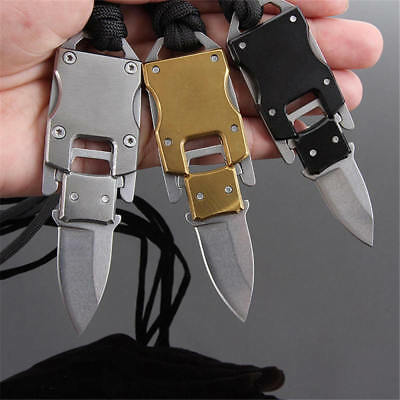 Tactical Key Chain Ring Mini Foldable Pocket Knife For Outdoor Survival EDC Tool