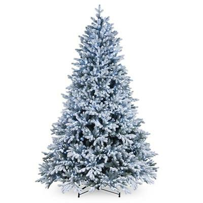 7.5ft Feel Real Snowy Hamilton Spruce Artificial Christmas Tree with Stand