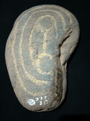 Old Carved Message Stone 'Gathering'Union' Rings North Central Desert:Aboriginal
