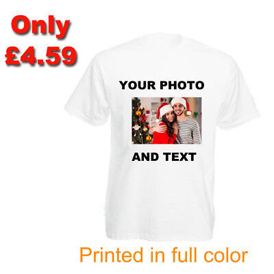 Womens Personalised T-shirt Custom Printed Photo Text Stag Hen Party Christmas