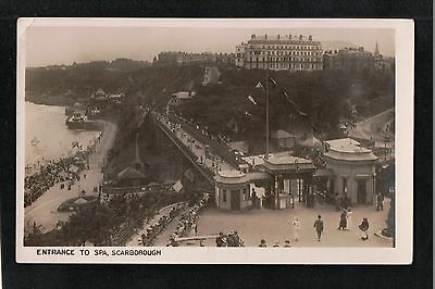 L@@K  Entrance to Spa Scarborough Yorkshire 1900's? Postcard ~ GOOD QUALITY CARD