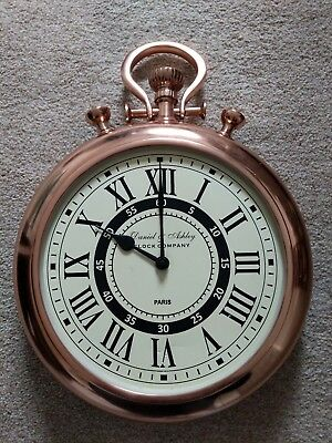 Daniel And Ashley Copper Pocket Watch Wall Clock