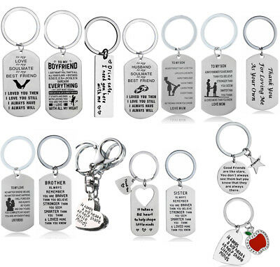 Keyring Couples Boyfriend Keychain Dad Mom Fathers Jewellery Family Best Friends