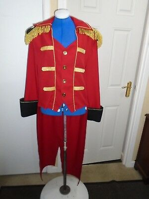 Ringmaster red gold coat pantomime theatre
