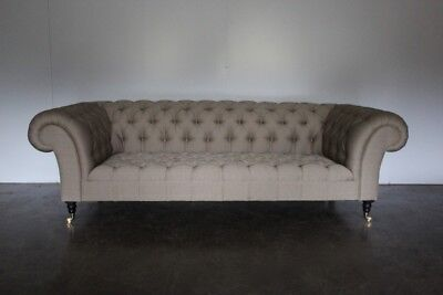 "Mint George Smith ""Early Victorian Chesterfield"" Sofa in Ralph Lauren Fabric ..."
