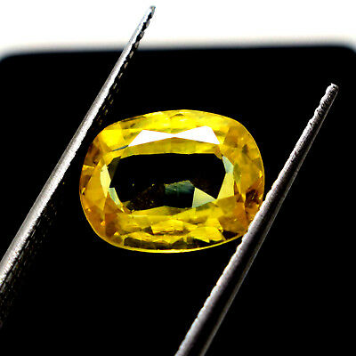 Ggl Certified  6.25 Ct Natural Yellow Sapphire Oval Cut Gem Nice Offer